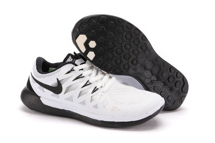 Nike Free 5.0 2014 Men's Running Shoe White Black Grey