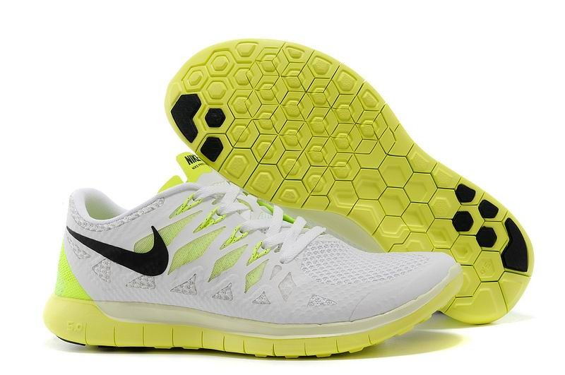 Nike Free 5.0 2014 Men's Running Shoe White Electric Green