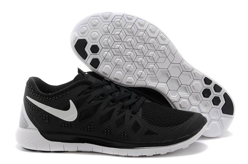 Nike Free 5.0 2014 Women's Running Sneakers Black Anthracite White