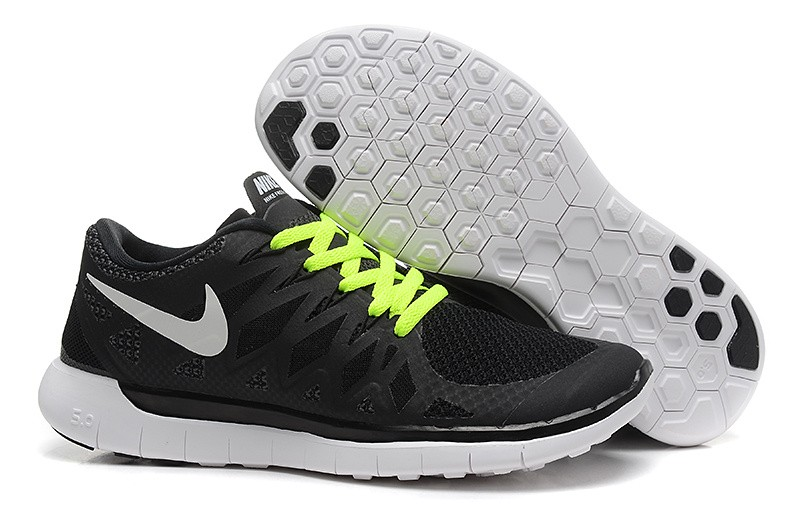 Nike Free 5.0 2014 Women's Running Sneakers Black Volt White