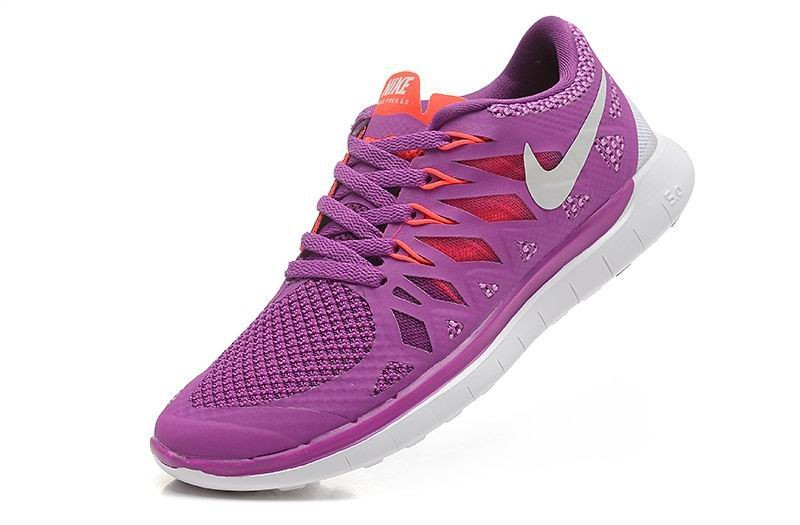 Nike Free 5.0 2014 Women\'s Running Sneakers Bright Grape Violet Shade Legion Red White