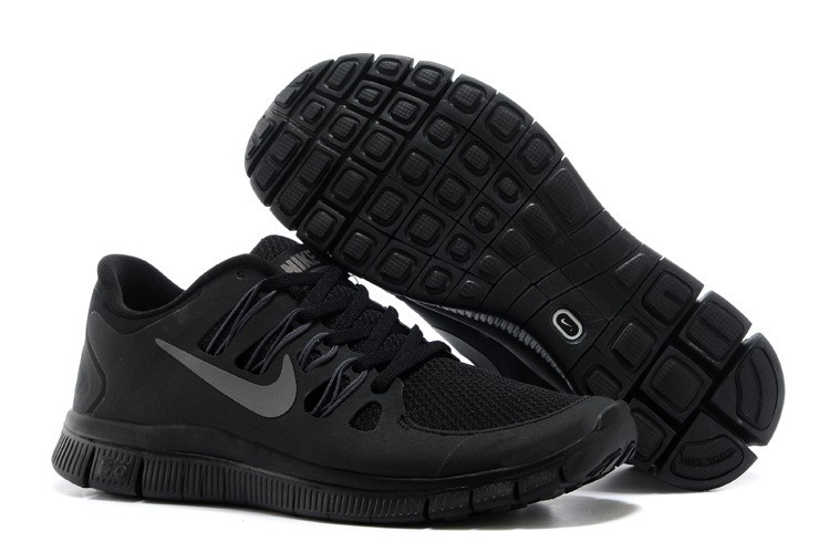 Nike Free 5.0 Mens All Black Running Shoes