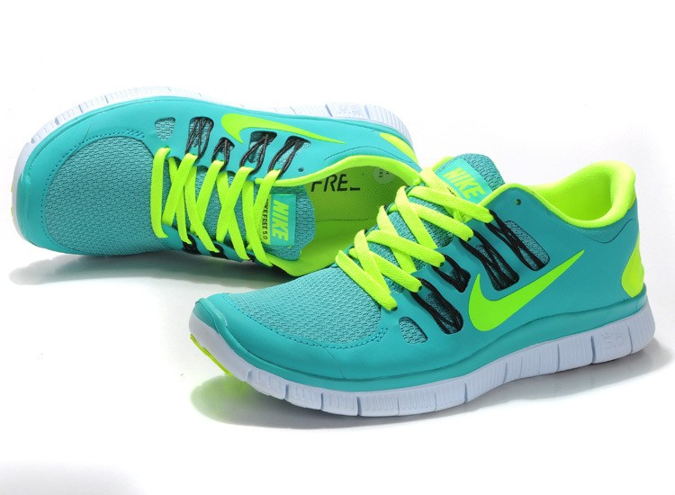 Nike Free 5.0 Mens Apple Green Fluorescence Green Running Shoes