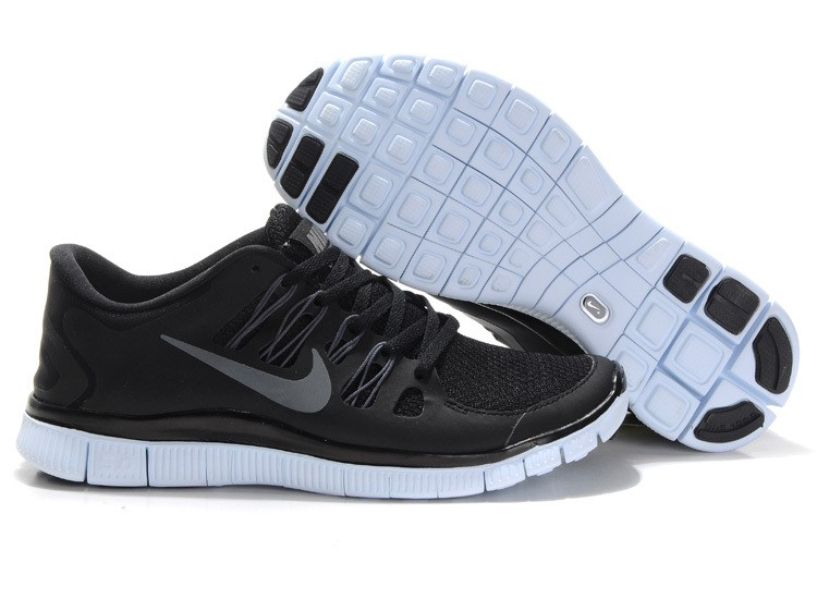 Nike Free 5.0 Mens Black Grey Running Shoes