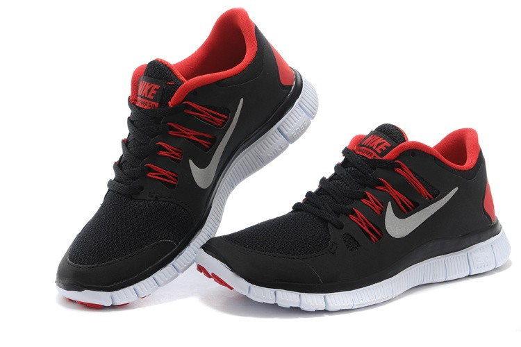 Nike Free 5.0 Mens Black Red Running Shoes
