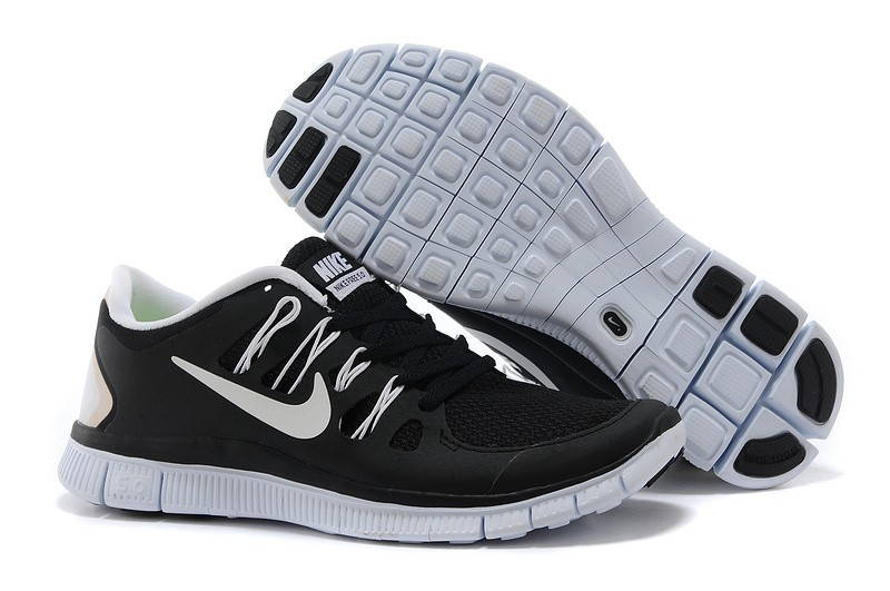 Nike Free 5.0 Mens Black White Running Shoes