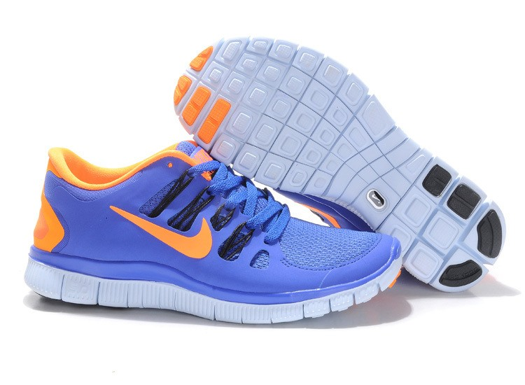 Nike Free 5.0 Mens Blue Orange Running Shoes