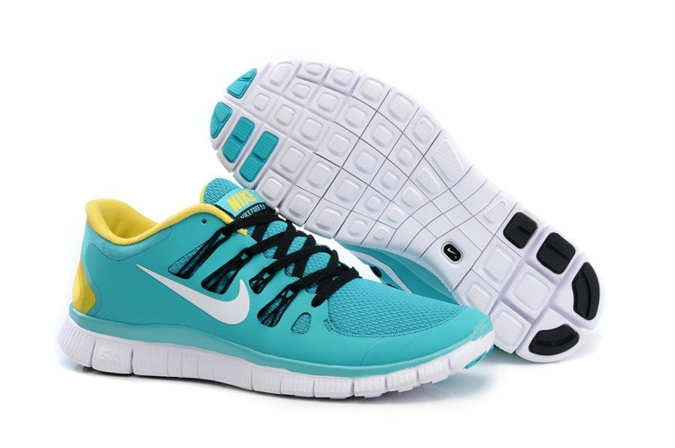 Nike Free 5.0 Mens Blue Yellow Black Running Shoes
