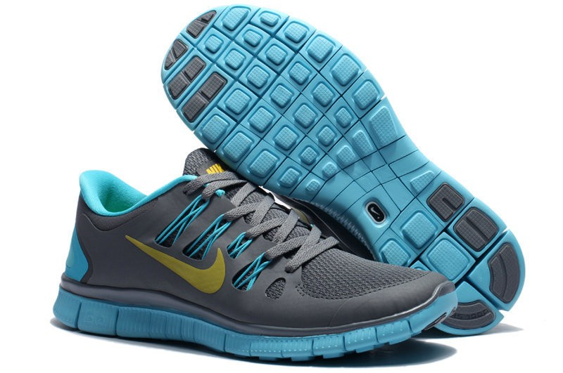 Nike Free 5.0 Mens Dark Blue Jade Running Shoes