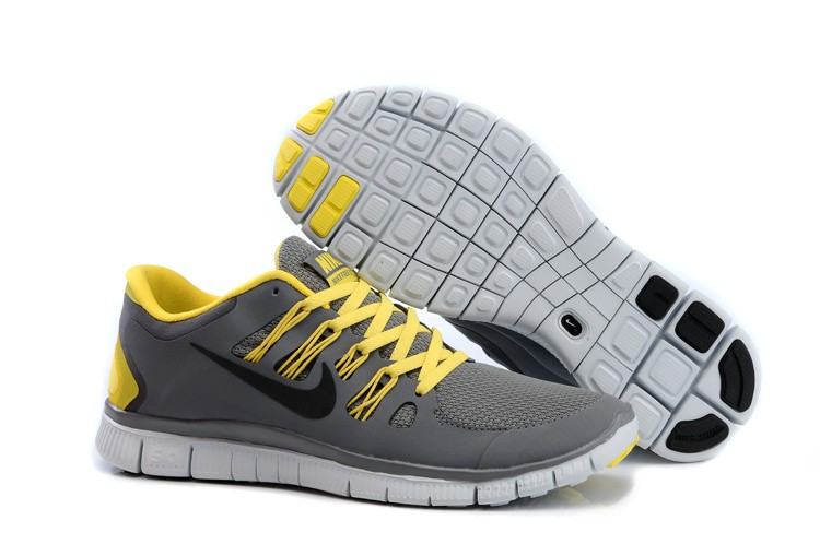 Nike Free 5.0 Mens Dark Grey Yellow Black Running Shoes