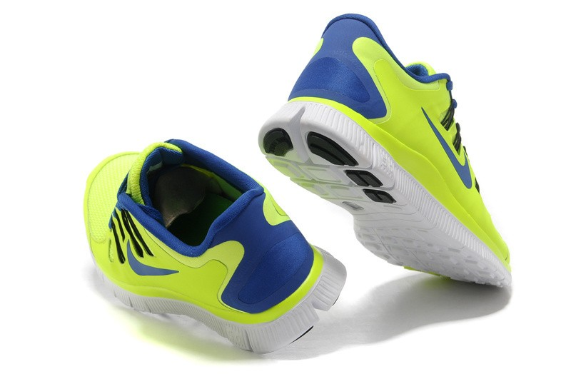 Nike Free 5.0 Mens Electric Yellow Blue Running Shoes