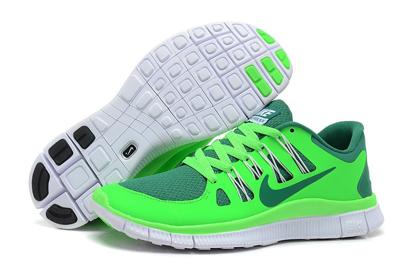 Nike Free 5.0 Mens Fluorescence Green Grass Green Running Shoes