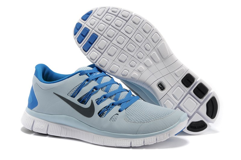 Nike Free 5.0 Mens Grey Blue Running Shoes
