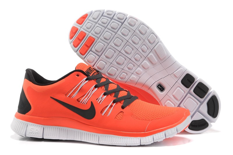 Nike Free 5.0 Mens Orange Black Running Shoes