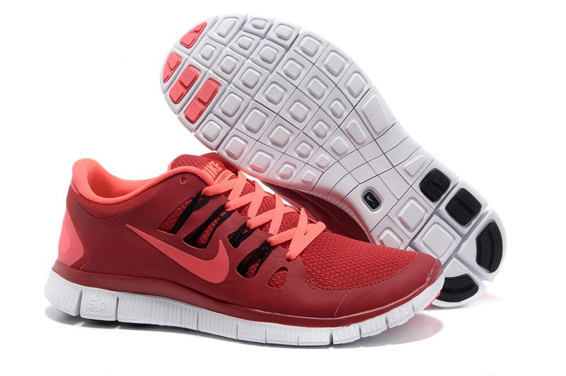Nike Free 5.0 Mens Red Pink Running Shoes
