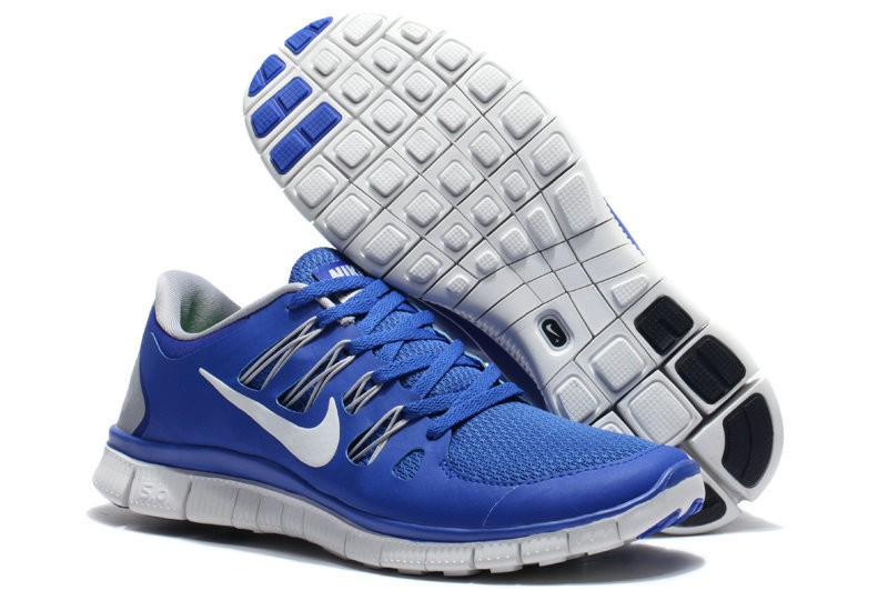 Nike Free 5.0 Mens Royalblue Running Shoes