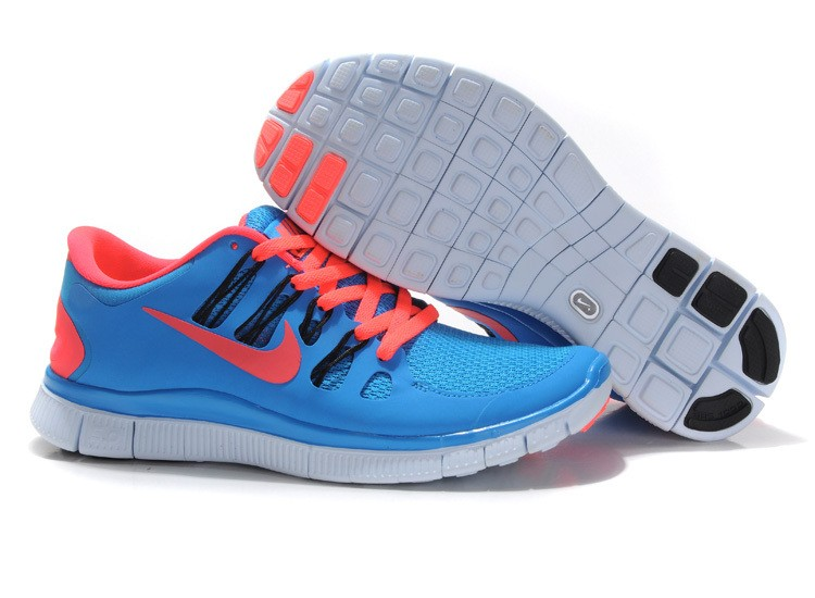 Nike Free 5.0 Mens Sky Blue Red Running Shoes