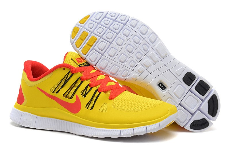 Nike Free 5.0 Mens Yellow Red Running Shoes