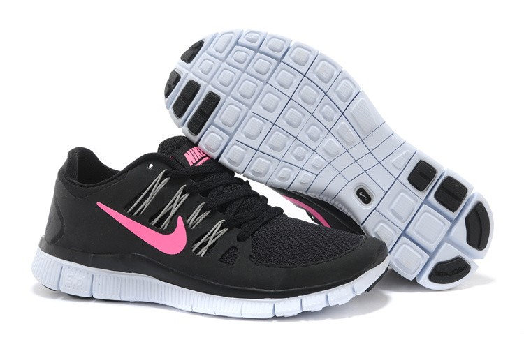 Nike Free 5.0 Womens Black Pink Running Shoes