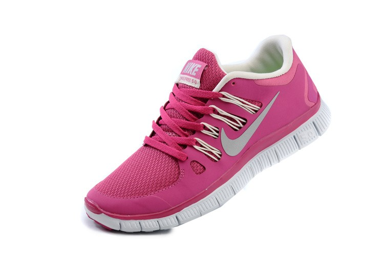 Nike Free 5.0 Womens Bright Pink White Running Shoes