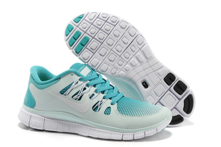 Nike Free 5.0 Womens Light Grey Jade Running Shoes