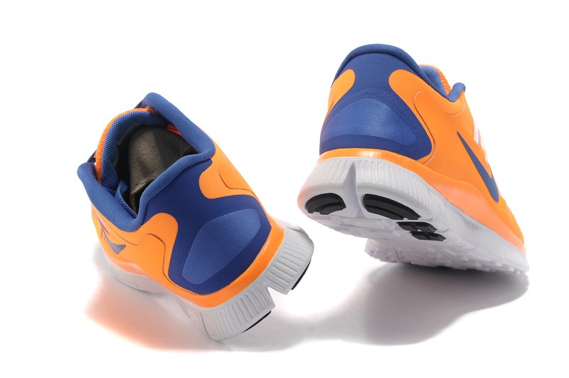 Nike Free 5.0 Womens Orange Blue Running Shoes