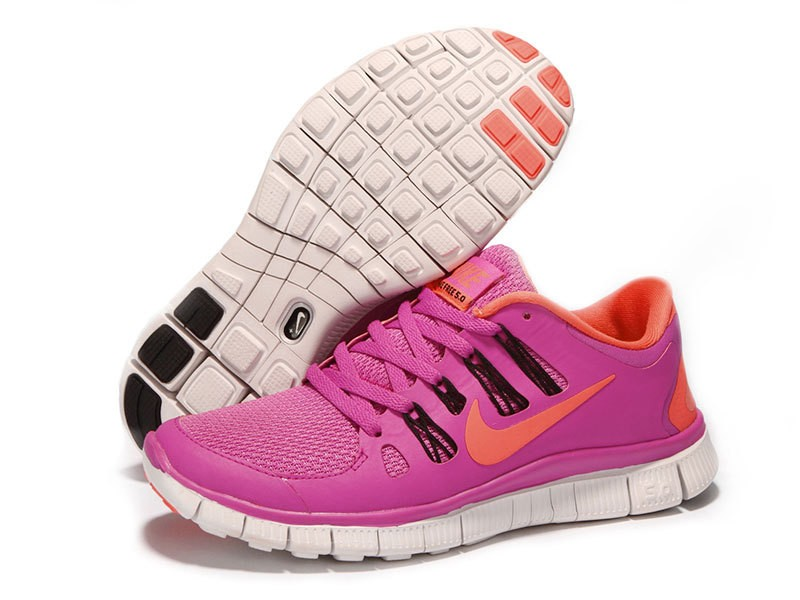 Nike Free 5.0 Womens Pink Orange Running Shoes