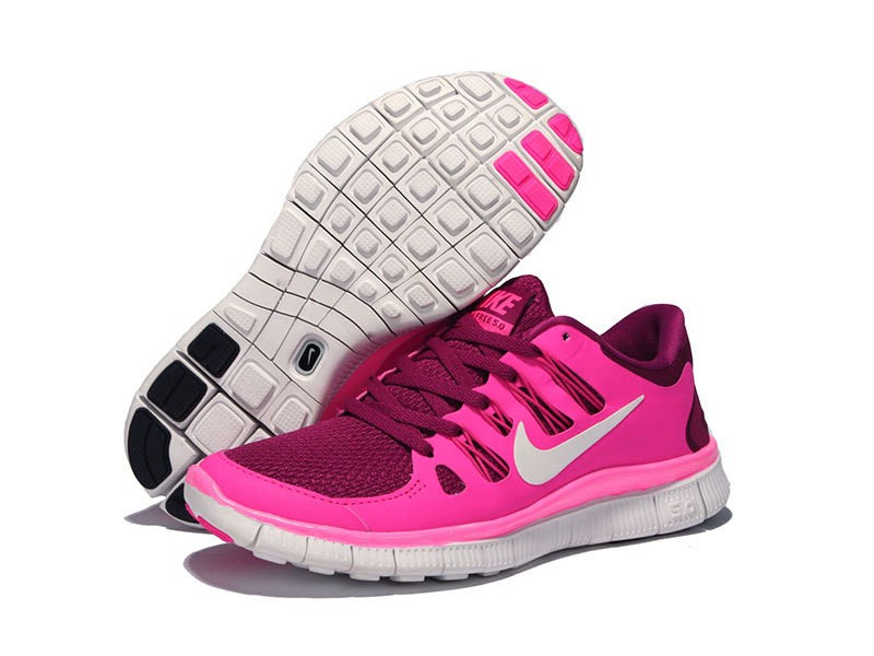 Nike Free 5.0 Womens Pink Purple Running Shoes