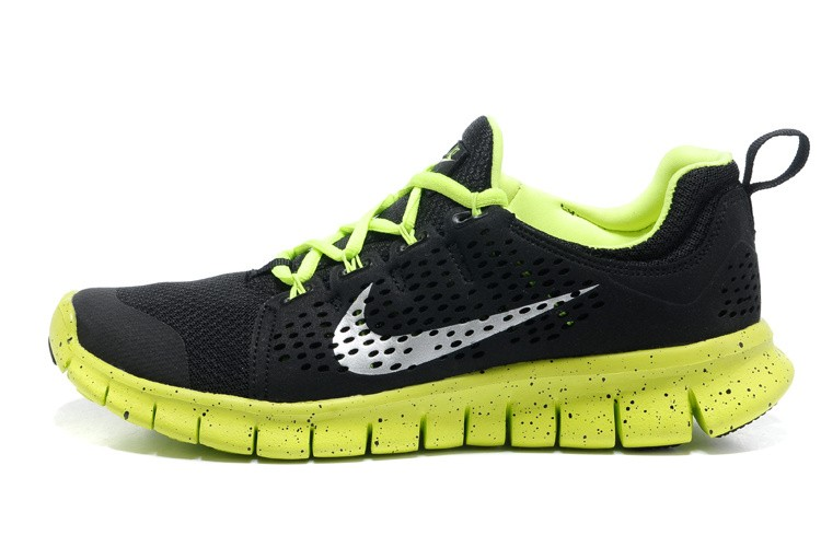 Nike Free Powerlines 2 Mens Black Fluorescence Green Shoes