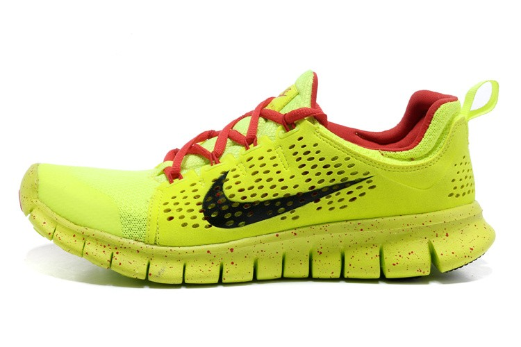 Nike Free Powerlines 2 Mens Fluorescence Green Red Shoes