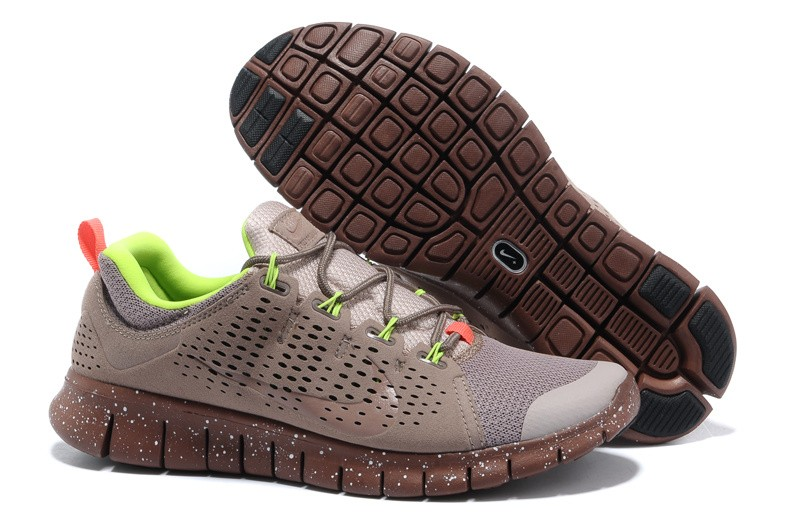 Nike Free Powerlines 2 Mens Gray Brown Shoes