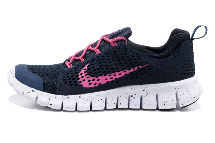 Nike Free Powerlines 2 Womens Dark Blue Pink Shoes