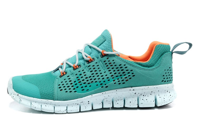 Nike Free Powerlines 2 Womens Green Orange Shoes