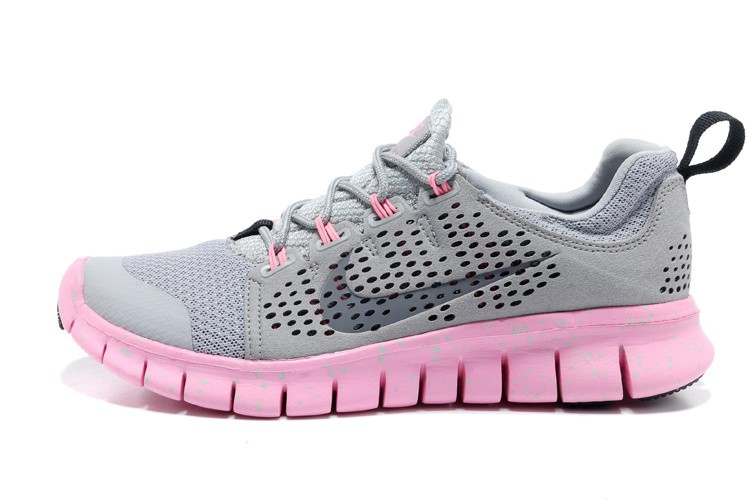 Nike Free Powerlines 2 Womens Light Gray Pink Shoes