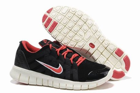 Nike Free Powerlines Premium Mens Running Shoes Black Sport Red