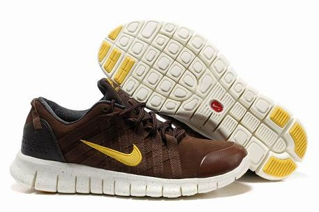 Nike Free Powerlines Premium Mens Running Shoes Brown Gold