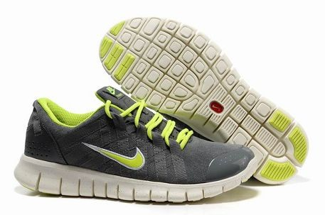 Nike Free Powerlines Premium Mens Running Shoes Cool Grey Volt