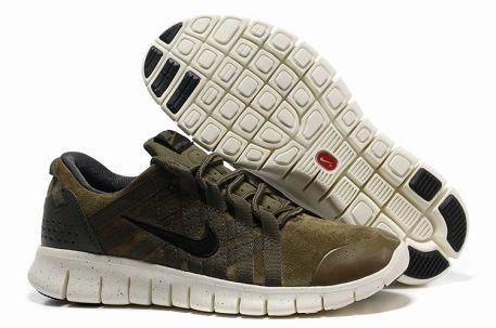 Nike Free Powerlines Premium Mens Running Shoes Military Green