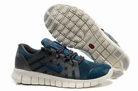 Nike Free Powerlines Premium Mens Running Shoes Obsidian Grey