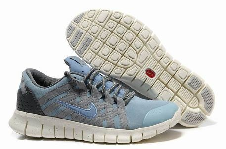 Nike Free Powerlines Premium Mens Running Shoes Water Blue Grey