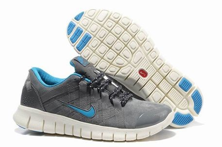 Nike Free Powerlines Premium Mens Running Shoes Wolf Grey Cool Grey Blue
