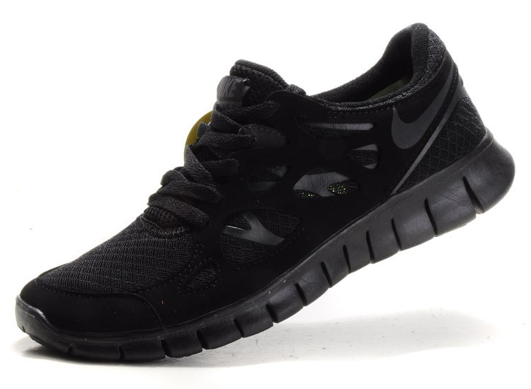 Nike Free Run+ 2 Mens Running Shoes Anthracite All Black