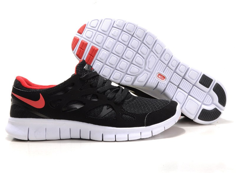 Nike Free Run+ 2 Mens Running Shoes Anthracite Black Red White