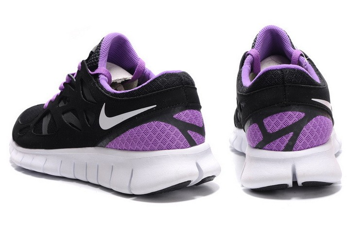 Nike Free Run+ 2 Mens Running Shoes Anthracite Black White Purple Violet