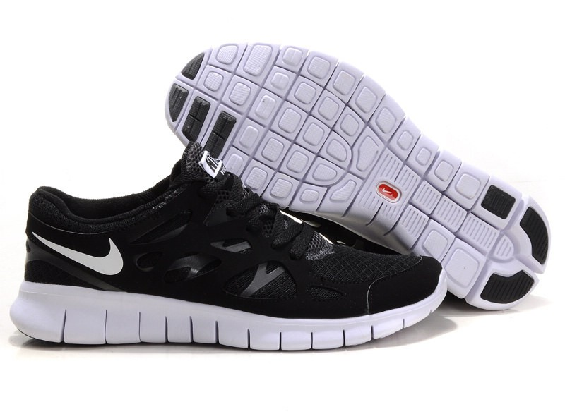 Nike Free Run+ 2 Mens Running Shoes Black White Anthracite
