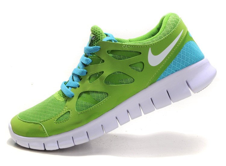 Nike Free Run+ 2 Mens Running Shoes Green White Turquoise