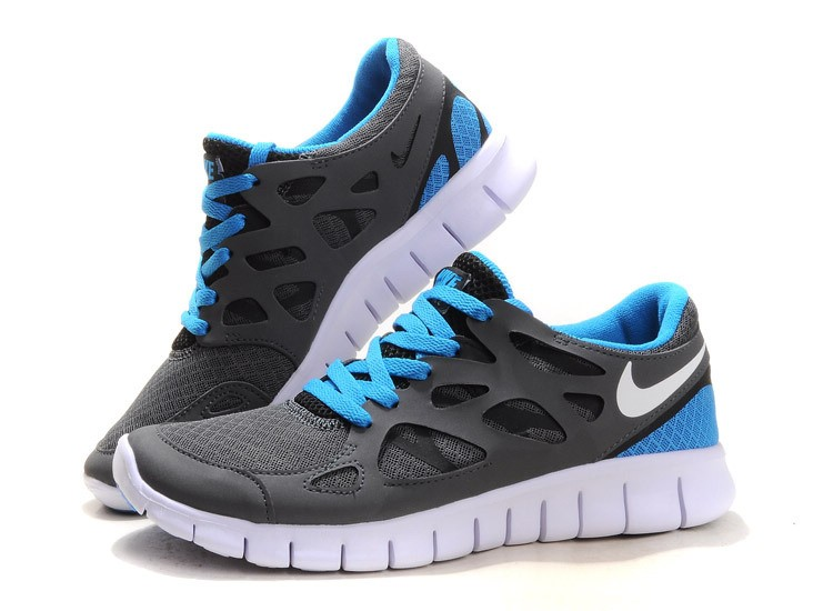 Nike Free Run+ 2 Mens Running Shoes Grey White Royal Blue