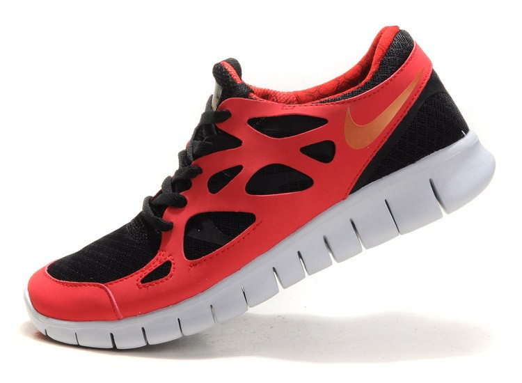 Nike Free Run+ 2 Mens Running Shoes Red Gold Black White