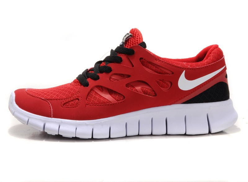 Nike Free Run+ 2 Mens Running Shoes Red White Black