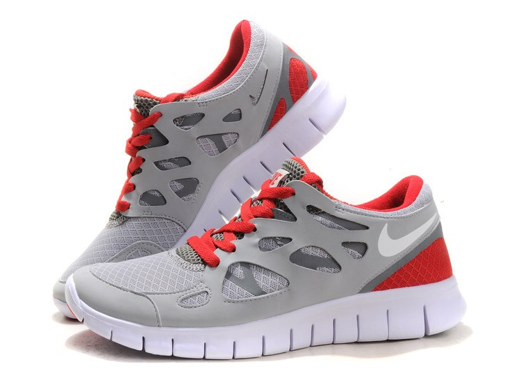 Nike Free Run+ 2 Mens Running Shoes Sail White Red Grey